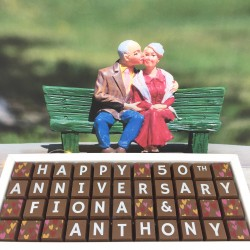 Personalised 50th Anniverary (Golden Anniversary) Chocolates