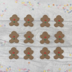 Edible Gingerbread Men Cupcake Toppers