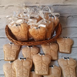 Male Torso Hen Do Cookies / Wedding Favours (Set of 15)