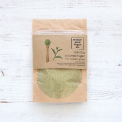 Green Matcha Infused Sugar in a 70g pouch - Artisan Flavoured Caster Sugar