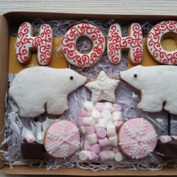 Polar Bear Christmas Cookie Gift Box