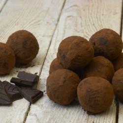 Dark Chocolate Rum-Almond Truffles (Vegan, Gluten & Dairy Free)