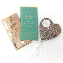 Luxury Chocolate Bars & Heart Lolly Gift Set