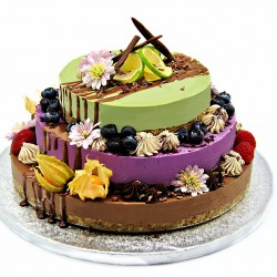 Raw Vegan Three-Tier Super Cake