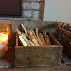 Rustic Kindling Box