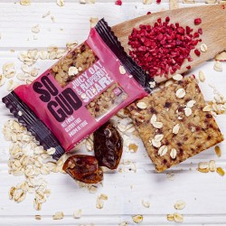Juicy Oat and Raspberry Square