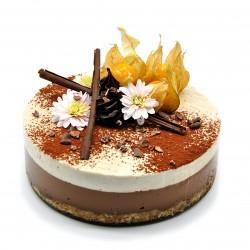 Raw Vegan Mocha & Vanilla Cake