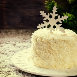 Gluten Free/Vegan Malibu Rum Coconut Cake For Christmas