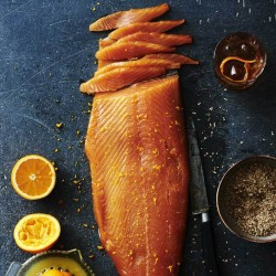 Whisky, Maple Syrup & Orange Infused Smoked Salmon