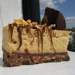 Dairy Free Baked Peanut Butter Cheesecake (Gluten Free)