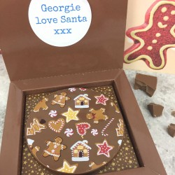 Personalised Christmas Chocolate Gift with Gingerbread Design