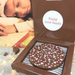 Personalised Christmas Chocolate Gift with Santa Design