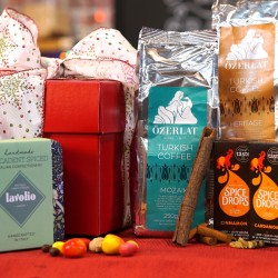 Gift Hamper for Coffee Lovers (Premium Turkish Coffee, Spice Drops® & Artisan Italian Confectionery)