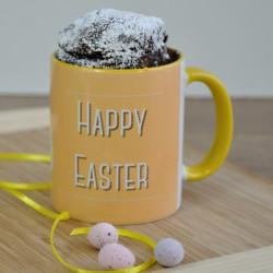 Personalised Easter Chocolate Mug Cake Gift Set - Vegan, Dairy-Free, Gluten-Free, Regular & Low Sugar Options