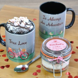 Personalised True Love Chocolate Mug Cake (Free From Options)