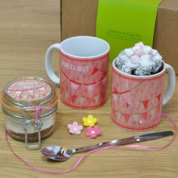 Personalised World's Best Mum Mug with Chocolate Cake Treat
