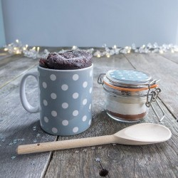 Personalised Christmas Spotty Dotty Mug with Chocolate Cake Treat