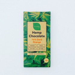 Organic Hemp 74% Dark Chocolate Orange Bars (6 pack)
