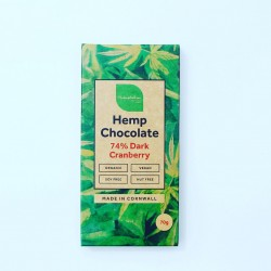Organic Hemp 74% Dark Chocolate & Cranberry Bars (6 pack)