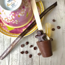 Three Dairy Free Hot Chocolate Stirrers containing Gingerbread Gin