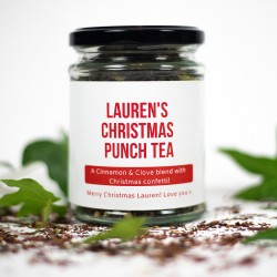Personalised Christmas Punch Tea Gift