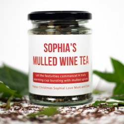 Personalised Mulled Wine Tea Gift