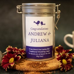 Personalised Wedding Cake flavoured Tea Gift