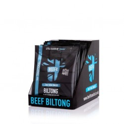 BEEFit Biltong - Beef Jerky - 10x30g. High Protein, Low Sugar Healthy Snack. Traditional