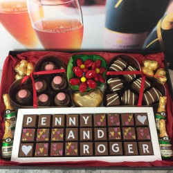 Personalised 40th Anniversary (Ruby Anniversary) Chocolate Hamper