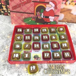 Chocolate Christmas Advent Calendar with 3D Santa Picture