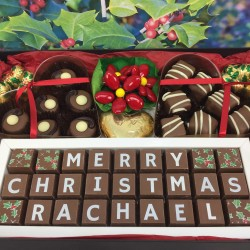 Personalised Christmas Chocolate Hamper