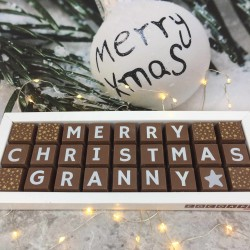 Personalised Christmas Chocolates for Grandma or Granny