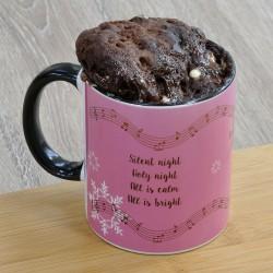 Personalised Christmas Silent Night Chocolate Mug Cake
