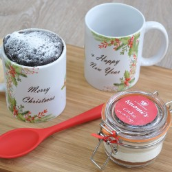 Personalised Merry Christmas Chocolate Mug Cake (Free From Options)