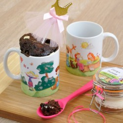 Personalised Princess Chocolate Mug Cake