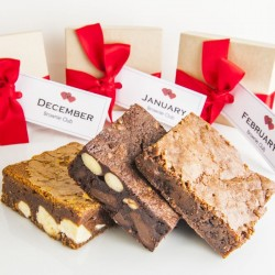 Christmas Gluten Free Monthly Brownie Subscription For a Year