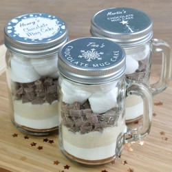 Personalised Chocolate Cake in a Kilner Jar - Table Favours or Stocking Fillers