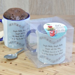 Personalised Jingle Bells Chocolate Mug Cake Stocking Filler Gift (Special Diet Options)