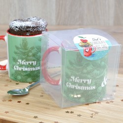 Personalised ChristmasTrees Chocolate Mug Cake Gift