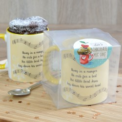 Personalised Away in a Manger Chocolate Mug Cake Gift