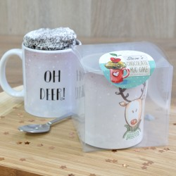 Personalised Oh Deer! Chocolate Mug Cake Secret Santa Gift