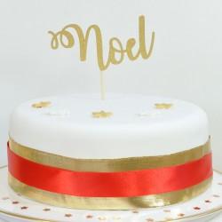 Elegant Noel Glitter Cake Centrepiece