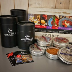 Six Pack of Rubs Collections with Recipe Cards