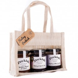 Quirky Luxury Jams Variety Gift Pack (Raspberry Gin, Liquorice and Rhubarb)