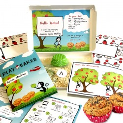Personalised Kids Awesome Apple Muffins Baking Kit