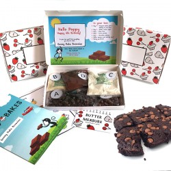 Personalised Kids Gooey Date Brownies Baking Kit