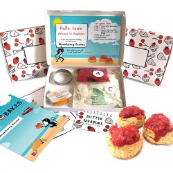 Personalised Kids Scrummy Strawberry Scones Baking Kit