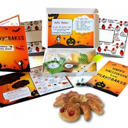 Personalised Kids Pumpkin Pretzel Spider Baking Kit