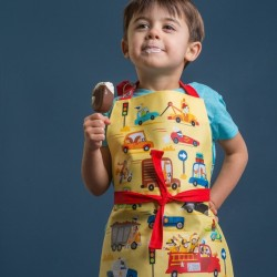 Fun Childs 'On the Move' Apron for Baking or Art & Craft