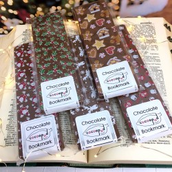Cocoapod chocolate christmas bookmark bars funny faces chocolate sweets kit